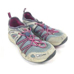 Teva Girls Mesh Water Shoes Sneakers Gray Pink 37